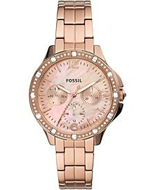Women's Finley Rose Gold-Tone Stainless Steel Bracelet Watch 34mm