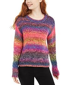 Juniors' Ombre-Striped Pullover Sweater
