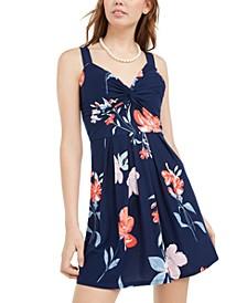 Juniors' Twist-Front Dress