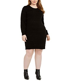 Plus Size Tinsel Stripe Sweater Dress