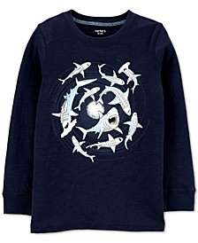 Little & Big Boys Glow-In-The-Dark Shark Cotton T-Shirt