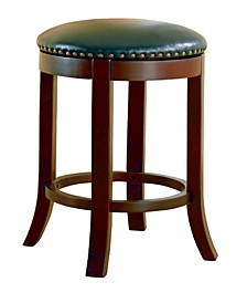 "Kodiak 29"" Swivel Bar Stools with Upholstered Seat, Set of 2"