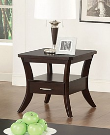 Enfield Flared Leg End Table with Drawer