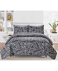 Casual Living Branches 3 Piece Quilt Set, Queen