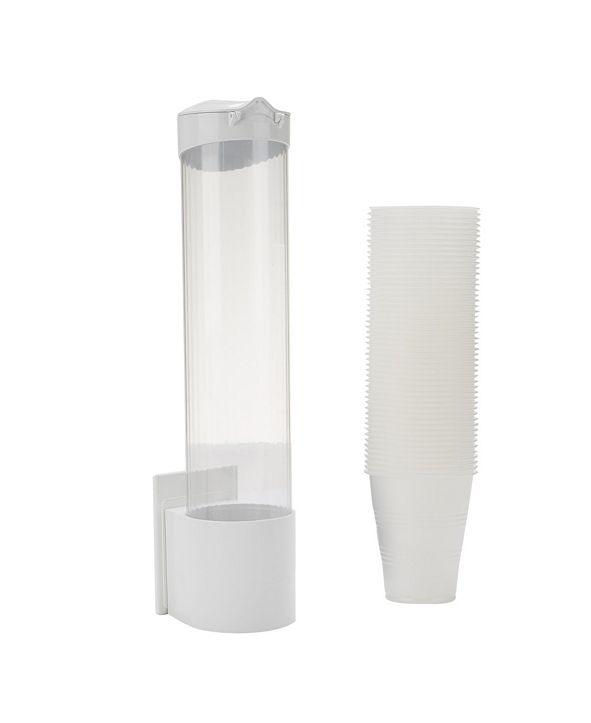 Mind Reader Surface Mount Cup Dispenser, Magnetic Paper Cup Dispenser