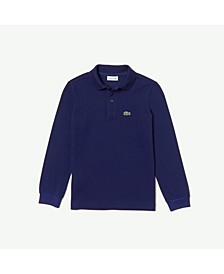 Toddler, Little and Big Boys Long Sleeve Petit Pique Polo Shirt