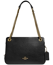 Polished Pebble Leather Bryant Convertible Carryall Satchel