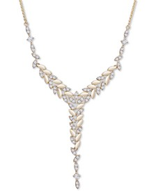 "Diamond Vine 18"" Lariat Necklace (1 ct t.w.) in 14k Gold, Created for Macy's"
