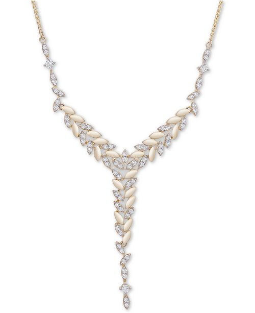 """Wrapped in Love Diamond Vine 18"""" Lariat Necklace (1 ct t.w.) in 14k Gold, Created For Macy's"""