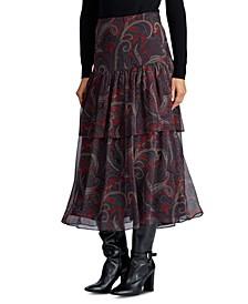 Tiered Georgette Skirt