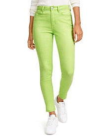 Juniors' Neon Wash Skinny Jeans