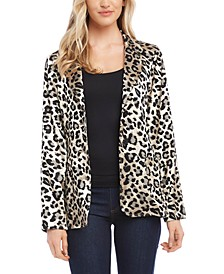Jacquard Leopard Blazer