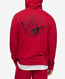 Men's Brand Logo Zip-Up Hoodie