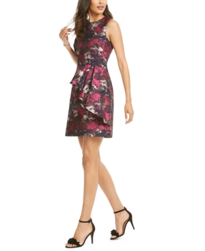 Vince Camuto Dresses BROCADE RUFFLED A-LINE DRESS
