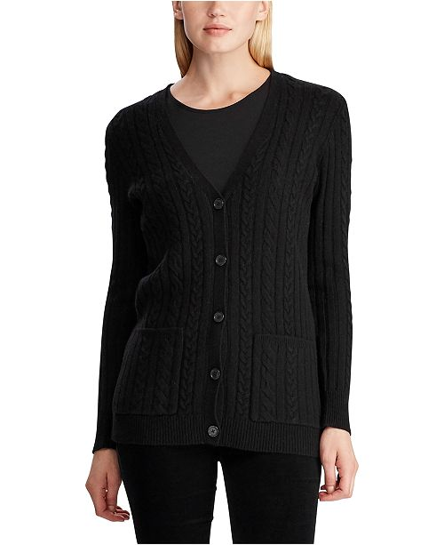 Lauren Ralph Lauren Cable-Knit Wool-Blend Cardigan
