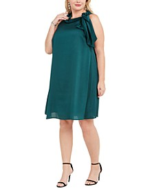 Plus Size Satin Trapeze Dress