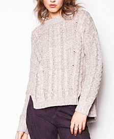 Pink Martini Women's Braiding Away Knit Sweater