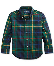 Little Boys Plaid Cotton Poplin Shirt