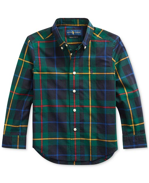 Polo Ralph Lauren Little Boys Plaid Cotton Poplin Shirt