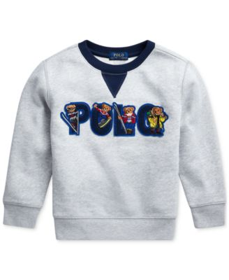 Toddler Boys Ski Bear Fleece Sweatshirt