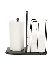 Paper Towel and Napkin Holder, Storage Organizer, Countertop