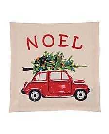 "18"" L Noel Car Pillow Cover"