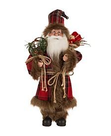 """18"""" Plaid Santa Figurine"""