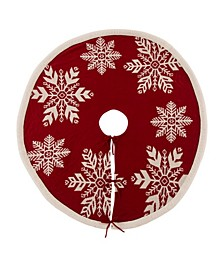 "48""D Knitted Snowflake Acrylic Christmas Tree Skirt"