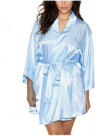 Plus Satin Robe Wrap, Online Only