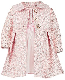 Baby Girls 2-Pc. Brocade Coat & Dress Set
