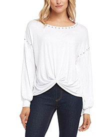 Studded Twist-Front Top