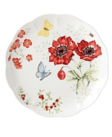 Butterfly Meadow Red Blue Butterfly Dinner Plate, Created for Macy's