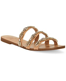 INC Women's Voma Shell Strappy Slide Sandals, Created for Macy's