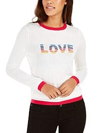 Rainbow Love Ringer Sweater