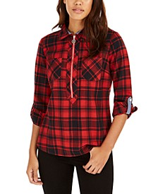 Cotton Backcountry Plaid Zip Shirt