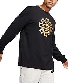 Men's Sportswear Metallic-Logo Long-Sleeve T-Shirt