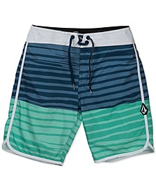 Big Boys Striped Swim Trunks