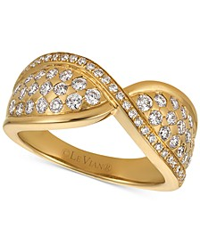 Vanilla Diamond Twist Statement Ring (7/8 ct. t.w.) in 14k Gold
