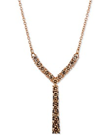 "Diamond Ombré 18"" Statement Necklace (7/8 ct. t.w.) in 14k Rose Gold"