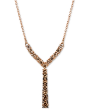 """Diamond Ombre 18"""" Statement Necklace (7/8 ct. t.w.) in 14k Rose Gold"""