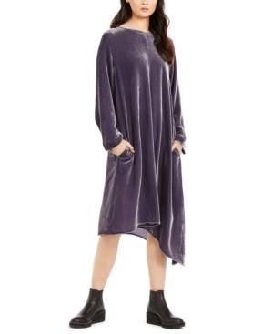 Eileen Fisher Dresses ASYMMETRIC-HEM VELVET DRESS