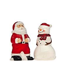 Santa And Snowman Salt& Pepper Shakers