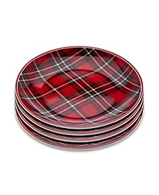 "6"" Plaid Plates - Set of 4"
