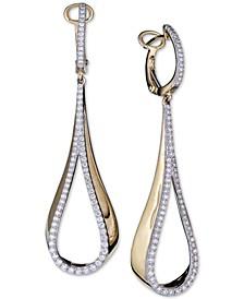 Diamond Teardrop Drop Earrings (3/4 ct. t.w.) in 14k Gold