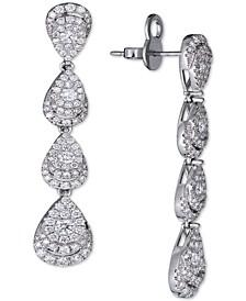 Diamond Teardrop Cluster Drop Earrings (2-1/2 ct. t.w.) in 14k White Gold