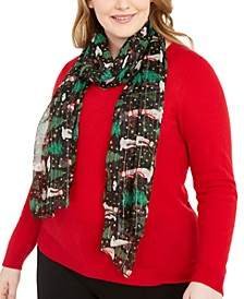 Snowman Holiday Oblong Scarf