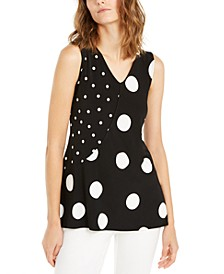 Sleeveless Asymmetric Printed Top, Created For Macy's