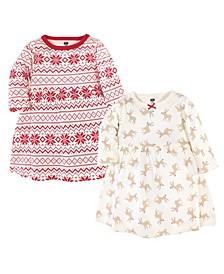 Toddler Girl Long Sleeve Dress 2 Pack