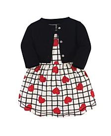 Baby Girl Organic Dress and Cardigan