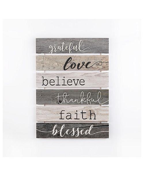 P Graham Dunn Grateful, Love, Believe, Thankful, Faith, Blessed Wall Art